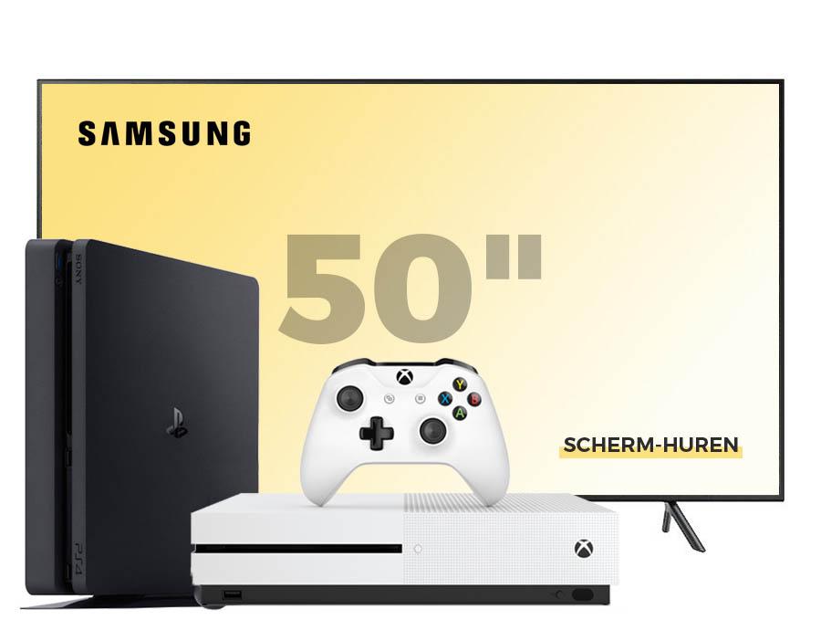 New gen console + 2 controllers + 50 inch scherm